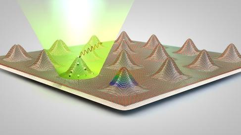 Generación de emisores de luz cuántica en semiconductores bidimensionales