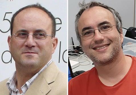 Eduardo Ros (Izquierda) e Iván Martí-Vidal